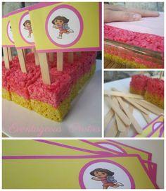 Eventageous Parties: Dora the Explorer Birthday Party 4th Birthday Parties, Birthday Bash, Girl Birthday, Birthday Ideas, Party Flags, Party Themes, Party Ideas, Dora The Explorer, Holiday Recipes