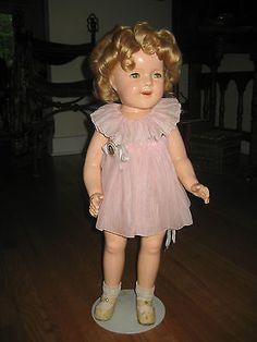 "25"" Shirley Temple Composition Doll Ideal 1935 Curley Top All Tagged Original"