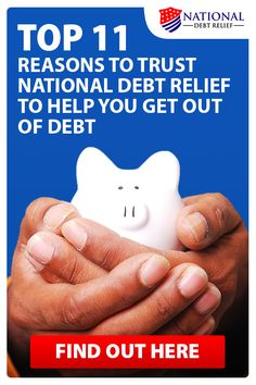 Are you drowning in debt? You're not alone. A huge debt burden can cause stress, anxiety and frustration. If you're struggling to make ends meet see if #1 rated National Debt Relief can help  reduce your debt to a fraction of what you owe. BBB A+ accredited with a 100% satisfaction guarantee and over 12,000 positive client reviews. See the Top 11 Reasons To Trust National Debt Relief To Help You Get Out Of Debt