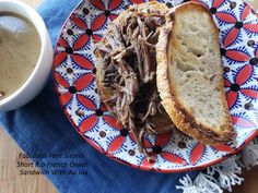 Short Rib French Onion Sandwich with Au Jus Beef Short Ribs, Beef Ribs, Rib Sandwich, Dry White Wine, French Onion, Sourdough Bread, Sandwiches, Sisters, Stuffed Peppers