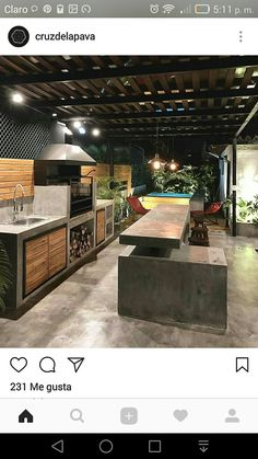 "Check out our web site for more information on ""outdoor kitchen designs layout patio"". It is actually an outstanding location for more information. Outdoor Kitchen Patio, Outdoor Kitchen Design, Diy Patio, Patio Design, Backyard Patio, Outdoor Spaces, Outdoor Decor, Patio Ideas, Outdoor Shop"