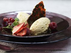 Kürbis-Mousse mit Kürbiskernkrokant  - smarter - Kalorien: 342 Kcal | Zeit: 400 min.
