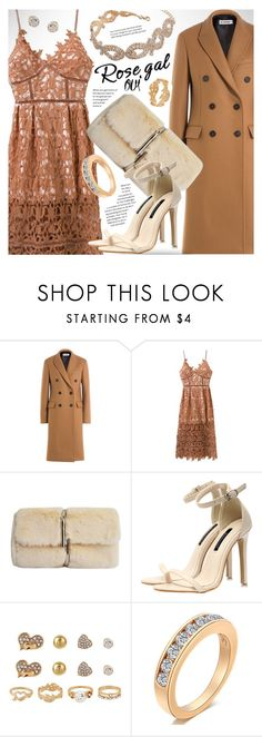 """""""ROSEGAL chic camel lace dress"""" by vn1ta ❤ liked on Polyvore featuring Jil Sander"""