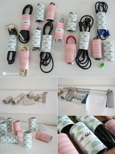 5 Tipps für die Kabelordnung zu Hause - Aufbewahrung für Kabel basteln