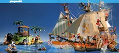 Playmobil Pirate Ship, Schooner and Island