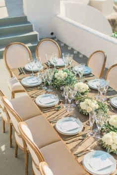 When a Santorini wedding comes across my desk, I stop everything. Especially when said wedding is captured byAnna RoussosandXavier Roussosand planned bySantorini Glam Weddings, featuring a Bride as stunning as she. You can almost feel the sunshine pouring over THE