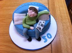 50th birthday cakes for men | 50th birthday cake-sleeping man