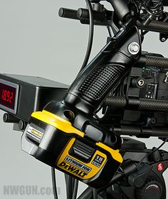 Cool idea: a modified torch from the Dewalt 18v lithium Ion range, to power a camera system. Would also work well with a ryobi one I imagine