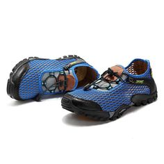 1ba44f734ed Men Lycra Mesh Breathable Outdoor Shock Absorption Hiking Shoes is  fashionable and cheap