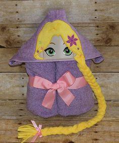 Rapunzel towel Tangeld towel Tangled Hooded Bath Towel for kids - long hair, beach, pool, fun, play, blanket , girls, dress- up