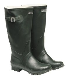 Harry Hall Ranger Mens Wellington Boots - 100% waterproof rubber wellington boot with a cleated outersole.