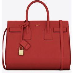 Saint Laurent Classic Small Sac De Jour Bag (87.550 UYU) ❤ liked on Polyvore featuring bags, handbags, purses, bolsas, red, embossed handbags, purse bag, handbag purse, red bag and man bag