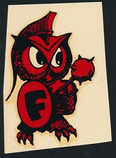 Adrian Brashier  adrianbrashier  on Pinterest Foothill College Fighting Owl  ORIGINAL 50 s Decal VTG Los Altos Hills  Calfornia