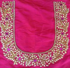 To get your personalized blouse pls what's app on 7299852557 - Salvabrani - Salvabrani Pattu Saree Blouse Designs, Blouse Designs Silk, Bridal Blouse Designs, Choli Designs, Blouse Patterns, Stone Work Blouse, Mirror Work Blouse, Hand Embroidery Designs, Aari Embroidery