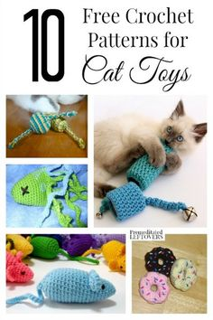 If you are a cat lover, you probably have thought of making your own cat toys. Here are 10 free crochet patterns for cat toys. Toys Patterns diy 10 Free Crochet Patterns for Cat Toys Gato Crochet, Crochet Cat Toys, Crochet Gifts, Crochet Animals, Free Crochet, Diy Cat Toys Yarn, Knitted Dolls, Diy Toys For Cats, Toy Diy