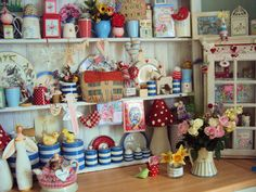 Kitchen Dresser - what a bugger to dust, but it looks so cute