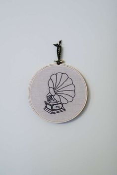 phonograph embroidery