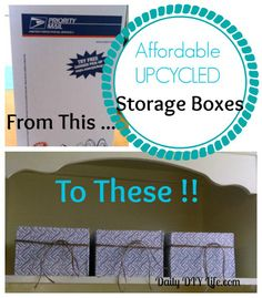 Affordable Upcycled Storage Boxes : Daily DIY Life.com