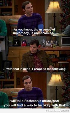 Sheldon being Sheldon.