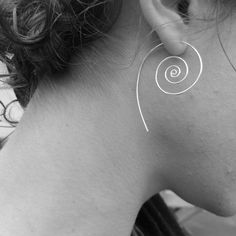 Koru Silver Spiral Earrings. Flourish Collection. by FullSpiral, $28.00
