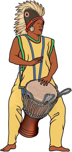 アフリカのドラム ・・・ジャンベの奏者  (African drum ... djembe)