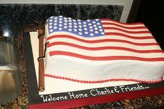 American Flag Cake by Christin's Cakes, via Flickr