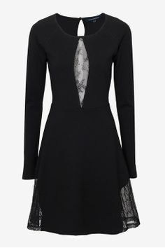 like this black dress w/ lace detailing