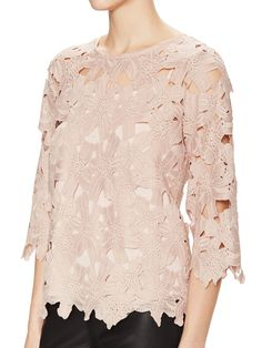 3/4 Sleeve Lace Top from Instant Femme on Gilt