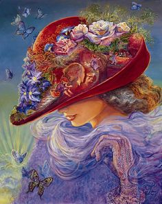 """""""The Red Hat 1"""" par Josephine Wall"""