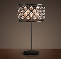 Restoration Hardware's Spencer Table Lamp:An inspired design from the British workshop of Timothy Oulton, our Spencer lighting collection's crystal glass spheres hang like gems within its iron grid.