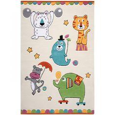 Le tapis Little Artists animaux du cirque de la marque Smart Kids apporte une touche colorée au décor d'une chambre d'enfant. Sa douceur et son moelleux font de ce tapis, un espace de jeux très confortable.