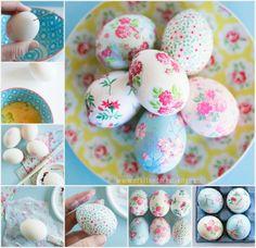 DIY Decoupage Easter Eggs  #DIY #crafts #Easter egg
