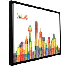 'Dallas' by Revolver Ocelot Framed Graphic Art on Wrapped Canvas