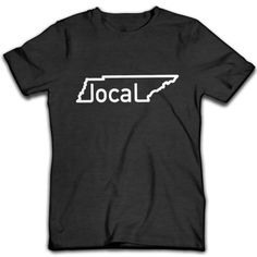 f412ffacc66 This is the perfect shirt for any local Tennessean. White ink printed on an  ultra