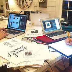 Late night branding meeting. Deadline: midnight...cue the coffee #magnoliahome #furniture&accessories