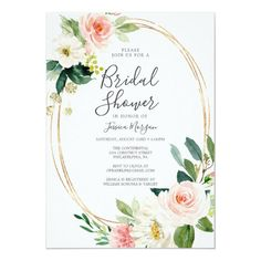 Airy Blush Bridal Shower Invitations Rustic Bridal Shower Invitations, Bridal Shower Rustic, Custom Invitations, Wedding Invitations, Blush Bridal Showers, White Envelopes, Rsvp, Special Occasion, Backdrops