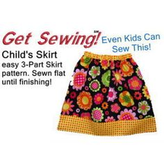 Download Easiest Girls Skirt sewing pattern for beginners Sewing Pattern | Kids Can Make This! | YouCanMakeThis.com