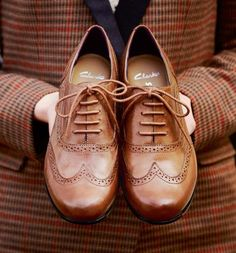 Brown Oxfords.