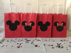 8 Mickey Mouse & Minnie Mouse Party Favor Bags by PlannerBoutique