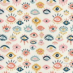 Mystic Eyes – Primary Palette Art Print by catcoq Images Wallpaper, Cute Patterns Wallpaper, Eyes Wallpaper, Eye Illustration, Illustrations, Evil Eye Art, Mystic Eye, Palette Art, Jolie Photo