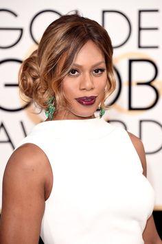 Pin for Later: Die Accessoires bei den Golden Globes sind fast noch besser als die Kleider Laverne Cox mit Ohrringen von Lorraine Schwartz