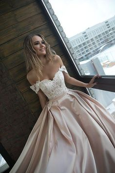 A silhuette satin with straps wedding dress Alisy by Olivia Bottega. Open top with cord lace and lace up A silhuette satin with straps wedding dress Alisy by Olivia Bottega. Open top with cord lace and lace up Wedding Dresses With Straps, Cute Prom Dresses, Wedding Dresses 2018, Pretty Dresses, Beautiful Dresses, Formal Dresses, Dress Wedding, Dresses Dresses, Fashion Dresses