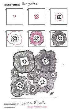 Le migliori 5968 immagini su zentangle patterns step by