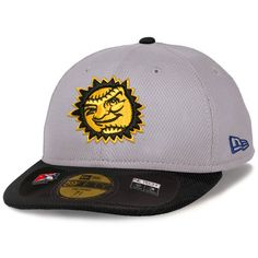 766b9e71088 Jacksonville Suns New Era Low Crown Diamond Era Fitted Hat - Gray Black.  MLB Caps   Hats