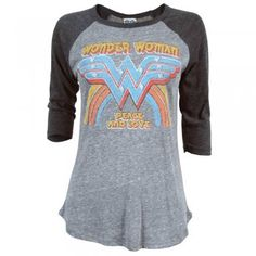 Junk Food Ladies Wonder Woman Peace and Love T Shirt. ORDERED REVIEW COMING SOON...