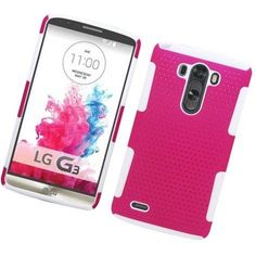Eaglecell LG G3 Astronoot Hybrid Mesh Case - Hot Pink/White