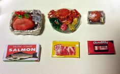 Kitchen RARE HTF Packaged Meat Food Accessories 6pc Dollhouse 1:12 Miniature | Dolls & Bears, Dollhouse Miniatures, Furniture & Room Items | eBay!