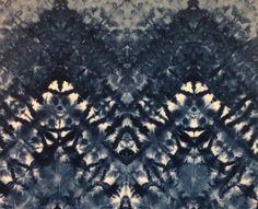 Ice Dyed Fabric  Indigo by FabricImagery on Etsy