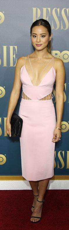 Pin for Later: We're Leaving This Week's Best Dressed List to the Pros Jamie Chung Jamie showed off some skin at the New York screening of Bessie in a sexy pink cutout Cushnie et Ochs dress. Pink Outfits, Sexy Outfits, Special Dresses, Nice Dresses, Celebrity Red Carpet, Celebrity Style, Jamie Chung, Red Carpet Gowns, Gowns Of Elegance