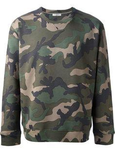 31a3e9ad65c5 Valentino Camouflage Sweatshirt - Vitkac - Farfetch.com Camouflage  Sweatshirt, Military Trends, Valentino